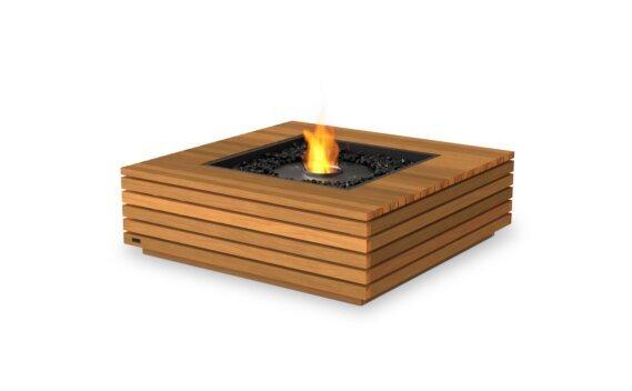 Base 40 Fire Pit - Ethanol - Black / Teak by EcoSmart Fire