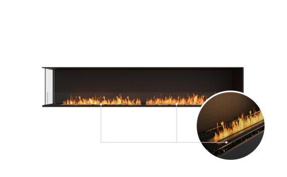 Flex 104LC Left Corner - Ethanol - Black / Black / Installed View by EcoSmart Fire
