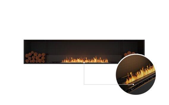 Flex 104SS.BX2 Single Sided - Ethanol - Black / Black / Installed View by EcoSmart Fire
