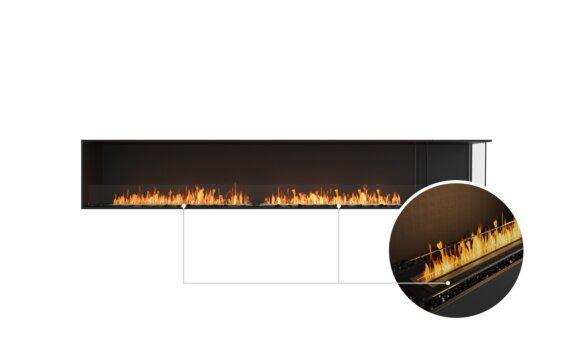 Flex 122RC.BXR Right Corner - Ethanol - Black / Black / Installed View by EcoSmart Fire