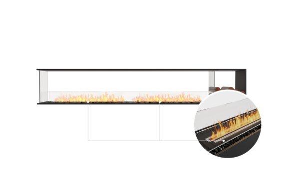 Flex 122PN.BXR Peninsula - Ethanol - Black / Black / Installed View by EcoSmart Fire