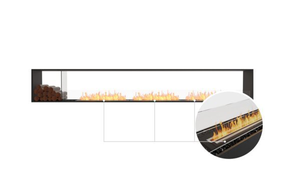 Flex 140DB.BX1 Double Sided - Ethanol - Black / Black / Installed View by EcoSmart Fire