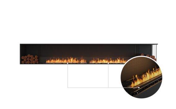 Flex 140RC.BX2 Right Corner - Ethanol - Black / Black / Installed View by EcoSmart Fire
