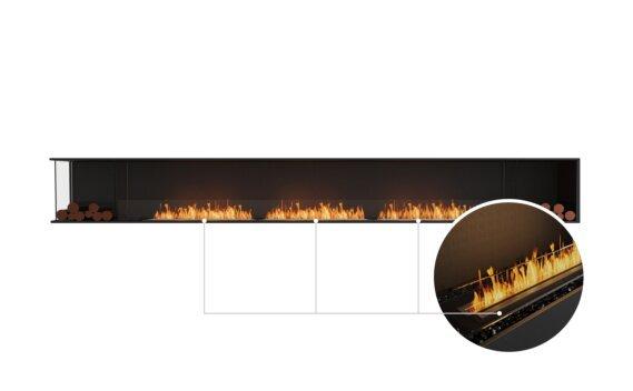Flex 158LC.BX2 Left Corner - Ethanol - Black / Black / Installed View by EcoSmart Fire