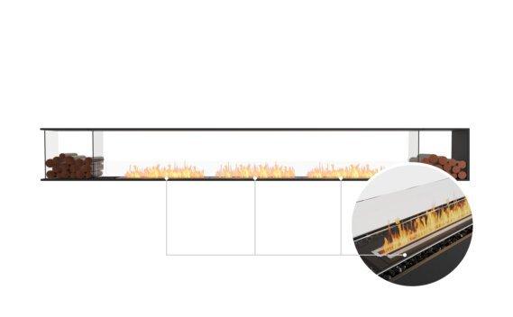 Flex 158PN.BX2 Peninsula - Ethanol - Black / Black / Installed View by EcoSmart Fire