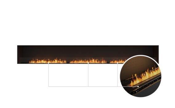 Flex 158SS Single Sided - Ethanol - Black / Black / Installed View by EcoSmart Fire