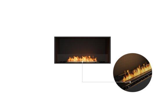 Flex 42SS Single Sided - Ethanol - Black / Black / Installed View by EcoSmart Fire