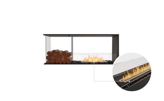 Flex 50PN.BXL Peninsula - Ethanol - Black / Black / Installed View by EcoSmart Fire