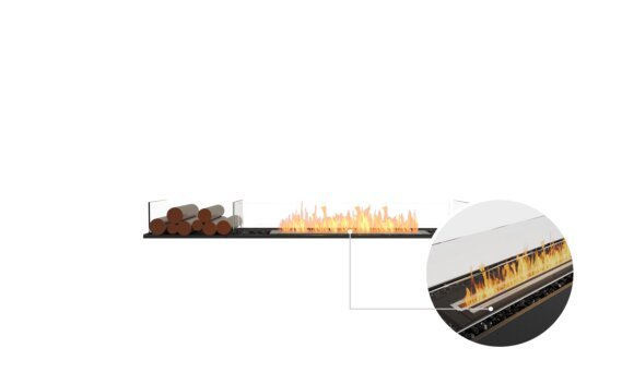 Flex 68BN.BX1 Bench - Ethanol - Black / Black / Installed View by EcoSmart Fire