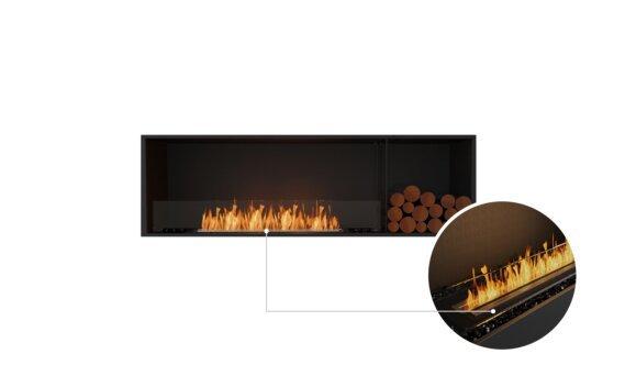 Flex 68SS.BXR Single Sided - Ethanol - Black / Black / Installed View by EcoSmart Fire