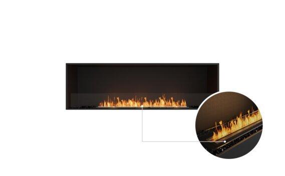 Flex 68SS Single Sided - Ethanol - Black / Black / Installed View by EcoSmart Fire