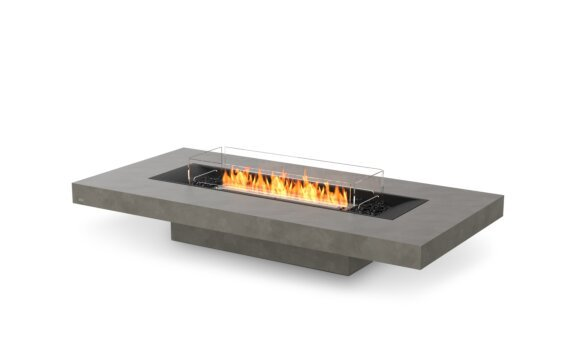 Gin 90 (Low) Fire Pit - Ethanol - Black / Natural / Optional Fire Screen by EcoSmart Fire