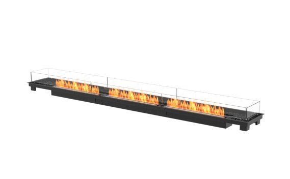 Linear 130 Fireplace Insert - Ethanol - Black / Black / Indoor Safety Tray by EcoSmart Fire