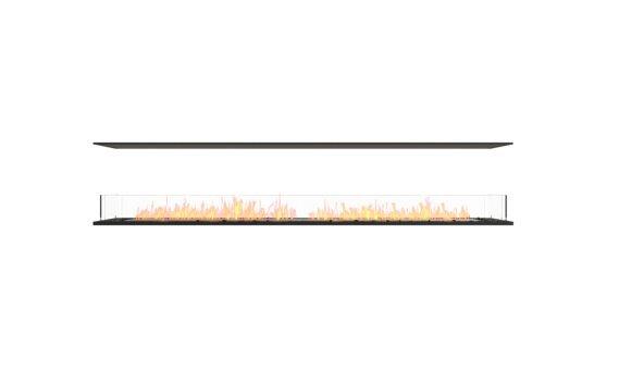 Flex 104IL Island - Ethanol / Black / Installed View by EcoSmart Fire
