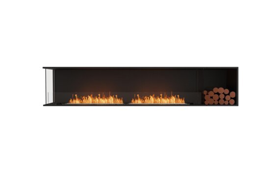 Flex 104LC.BXR Left Corner - Ethanol / Black / Installed View by EcoSmart Fire