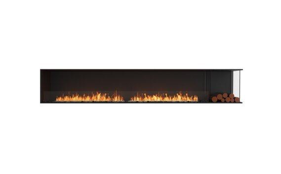 Flex 122RC.BXR Right Corner - Ethanol / Black / Installed View by EcoSmart Fire