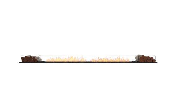Flex 140BN.BX2 Bench - Ethanol / Black / Installed View by EcoSmart Fire
