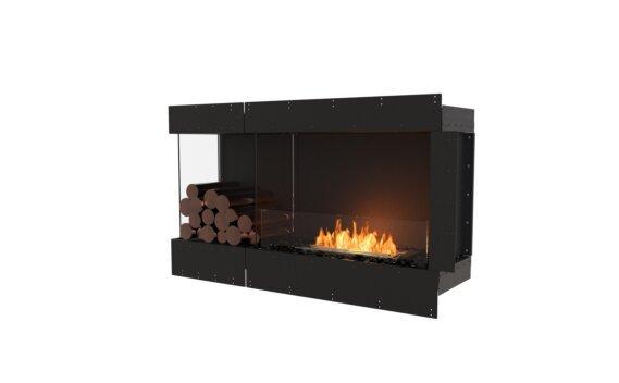 Flex 50LC.BXL Left Corner - Ethanol / Black / Uninstalled View by EcoSmart Fire