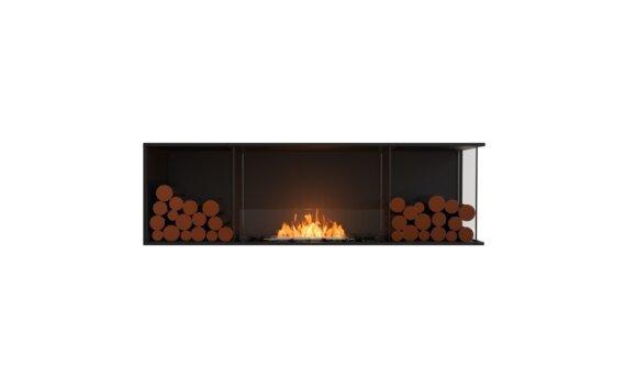 Flex 68RC.BX2 Right Corner - Ethanol / Black / Installed View by EcoSmart Fire