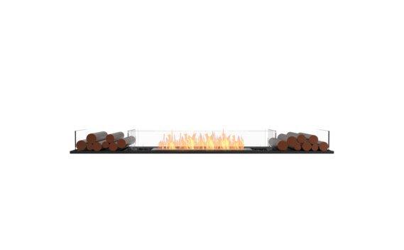 Flex 86BN.BX2 Bench - Ethanol / Black / Installed View by EcoSmart Fire