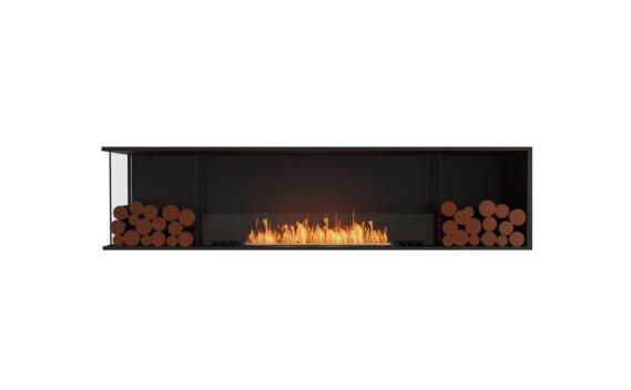 Flex 86LC.BX2 Left Corner - Ethanol / Black / Installed View by EcoSmart Fire