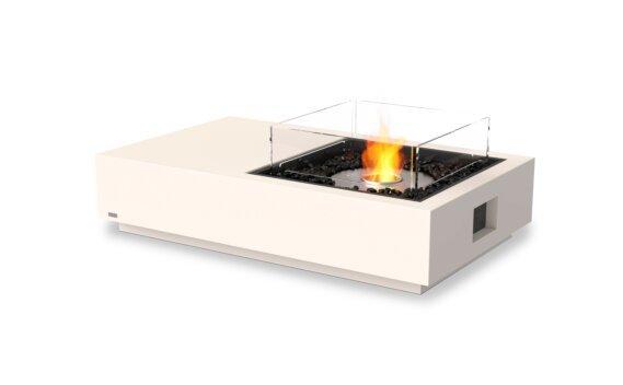 Manhattan 50 Fire Pit - Ethanol / Bone / Optional Fire Screen by EcoSmart Fire