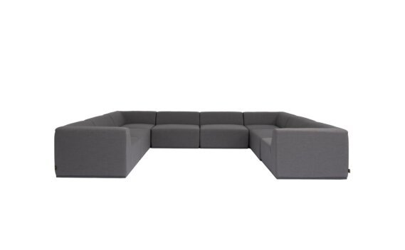 Relax Modular 8 U-Sofa Sectional Furniture - Flanelle by Blinde Design