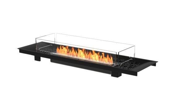 Linear Curved 65 Fireplace Insert - Ethanol - Black / Black by EcoSmart Fire